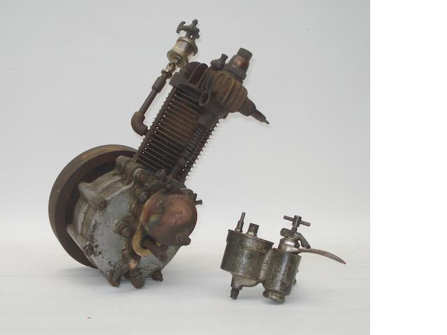 A 1½-2Hp single cylinder air-cooled motorcycle engine, circa 1901,