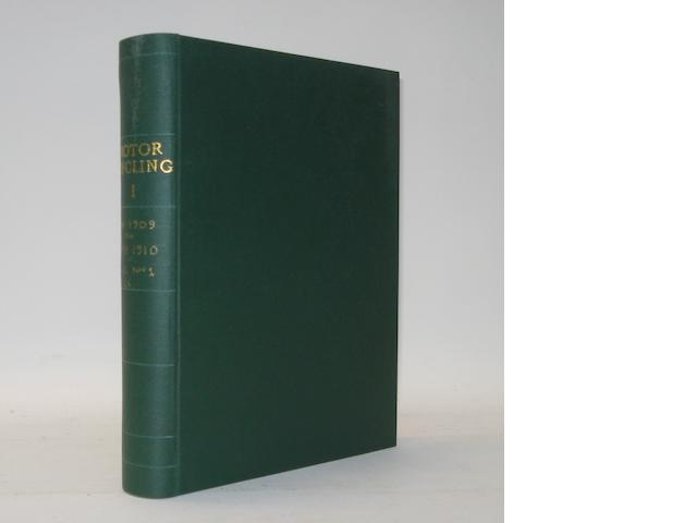 Motor Cycling; bound Volume I, 1909/10,
