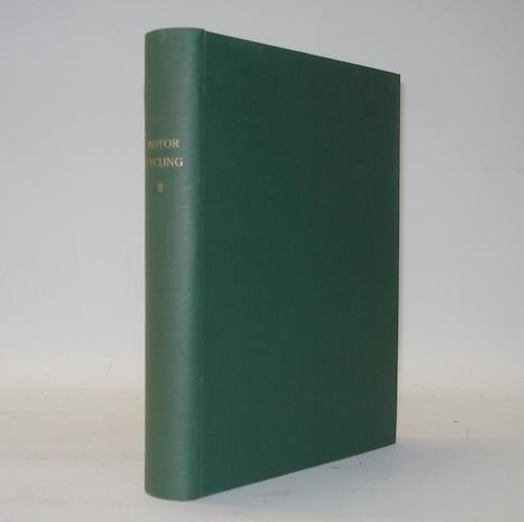 Motor Cycling; bound Volume II, 1910,