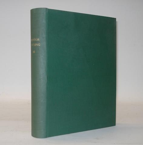 Motor Cycling; bound Volume III, 1910/11,