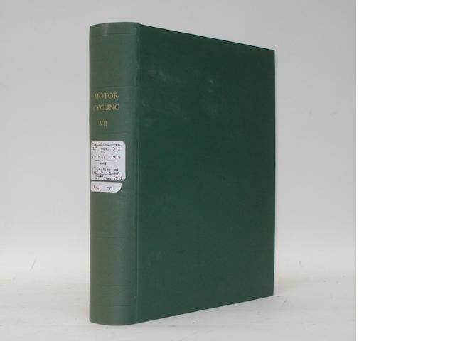 Motor Cycling; bound Volume VII, 1912/13,