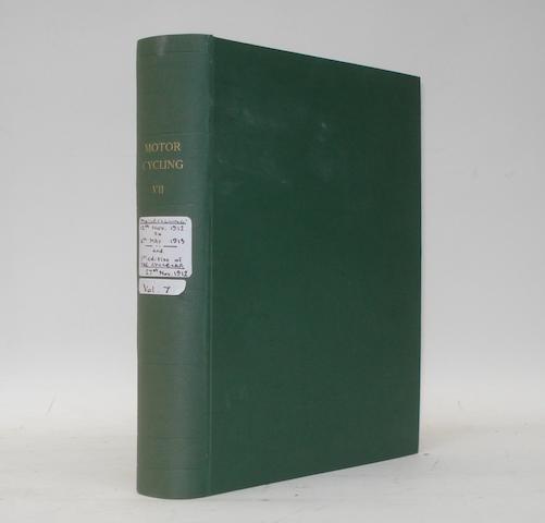 Motor Cycling; bound Volume VII, 1912/13,