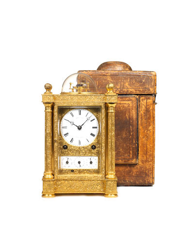 A rare mid 19th century French 'Bubble' top grande sonnerie giant carriage clock with detent escapement Berrolla Ainé, Rue de la Tour 2