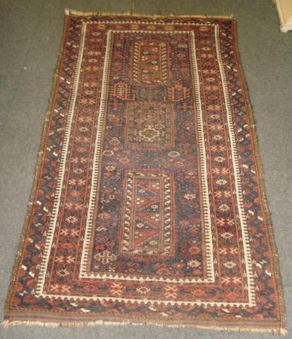 A Belouchi geometric pattern rug, 1.7m x 89cm.