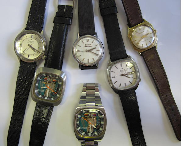 A lot of six Bulova wristwatches