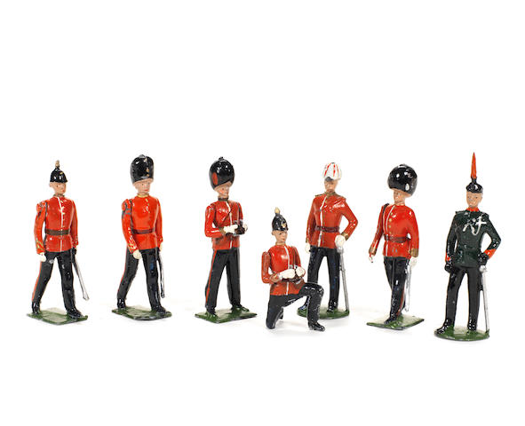 RARE Britains set 1908, Infantry Officers 7 7