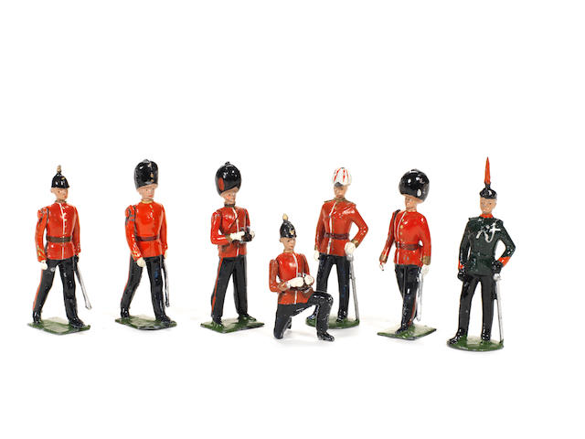 RARE Britains set 1908, Infantry Officers 7