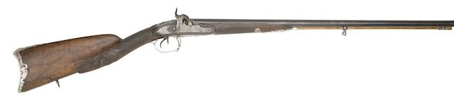 A French 22-Bore Silver-Mounted D.B. Percussion Sporting Gun