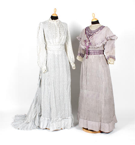 Two day dresses, circa 1910s
