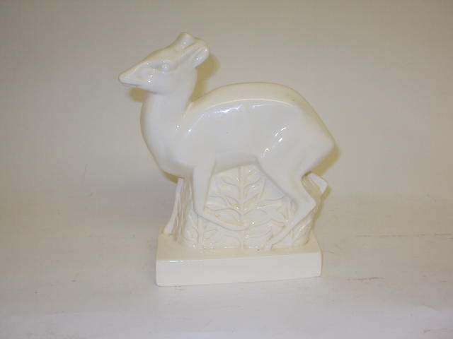 A Wedgwood figure of a deer by John Skeaping