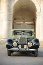 Formerly the property of le Patron Ettore Bugatti to a design by Jean Bugatti,1938 Bugatti Type 57C  Chassis no. 57335