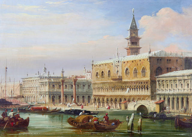 Edward Pritchett (British, 1828-1864) The Doges Palace and the Piazzetta, Venice