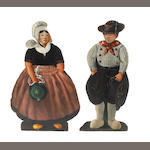 A pair of 19th century painted dummy-boards