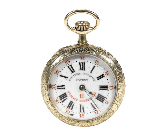 An Edwardian gentleman's motorcycling themed pocket watch,