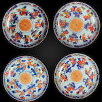 A set of four Imari saucer dishes 18th century