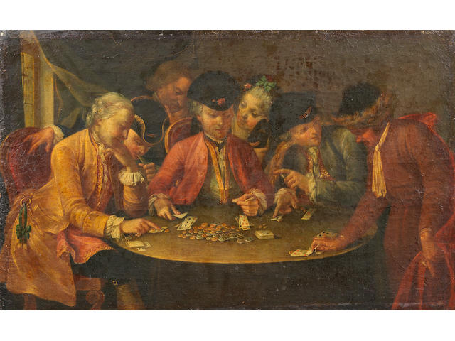 Circle of Giuseppe Bonito (Castellammare 1707-1789 Naples) Card Players