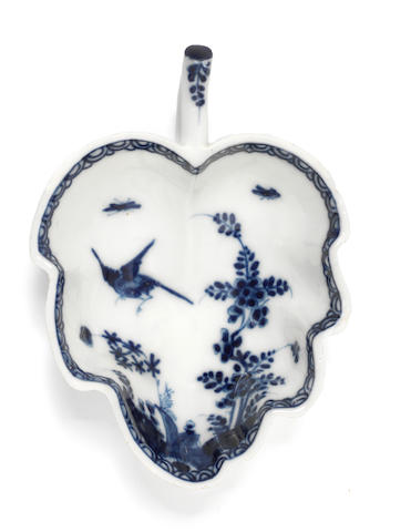 A Meissen leaf-shaped dish, circa 1730