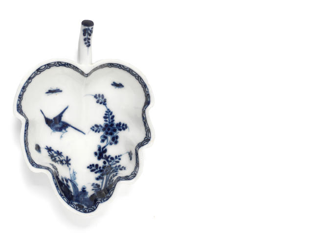 A Meissen leaf-shaped dish, circa 1730, underglaze-blue decoration