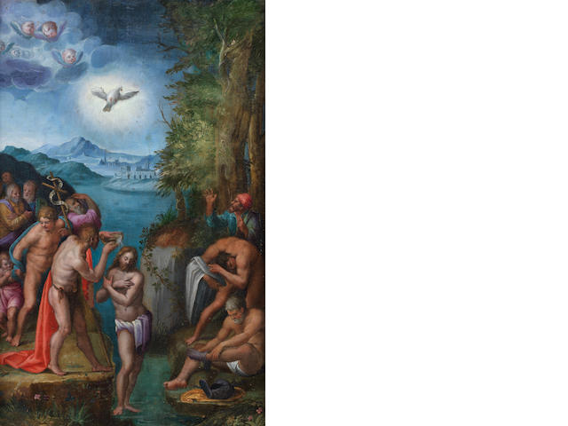 Italo-Flemish School, early 17th Century The Baptism of Christ