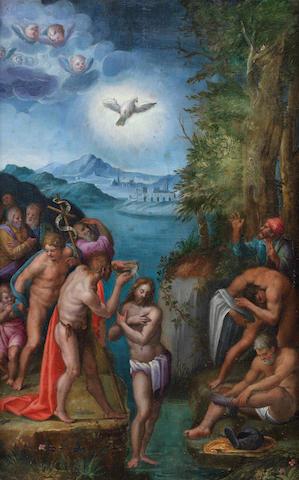 Italo-Flemish School, early 17th Century The Baptism of Christ