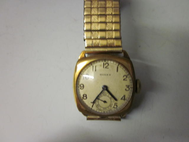 A rolled gold Rolex bracelet watch,