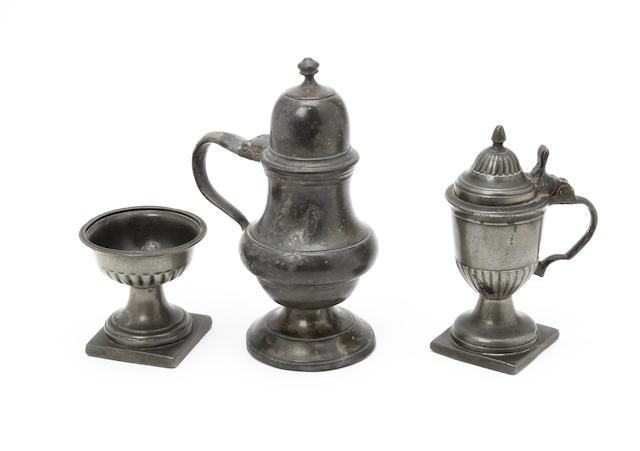 An 18th century European gadrooned cup salt