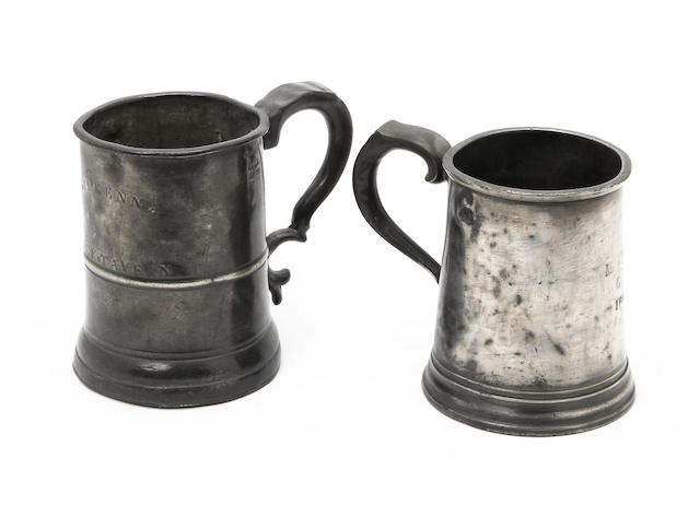 An Irish 19th century pint mug