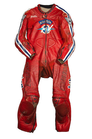 Phil Read's MV Agusta racing leathers, by Dianese, Italy,