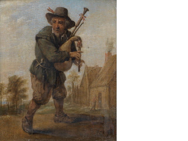 Studio of David Teniers the Younger (Antwerp 1610-1690 Brussels) A peasant with bagpipes, standing in a landscape