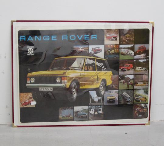 Twelve British Leyland posters for Triumph and Rover, 1972-3,