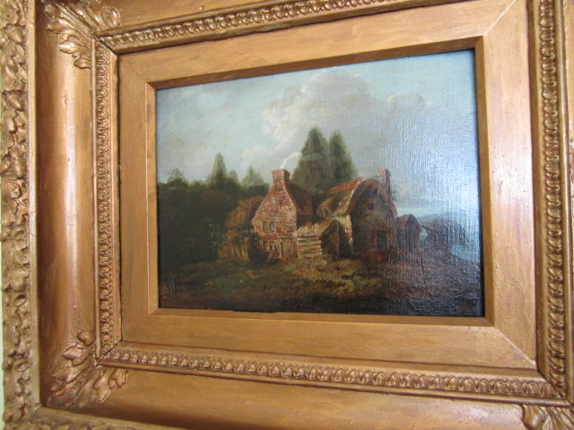 Continental School, 19th Century Cottage in a landscape