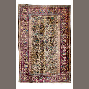 A Feraghan silk rug, West Persia, circa 1880, 6 ft 5 in x 4 ft 2 in (195 x 127 cm) some minor wear