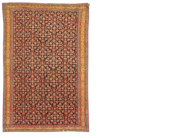 A Senneh rug, West Persia, circa 1900, 6 ft 7 in x 4 ft 2 in (201 x 127 cm) selvedges in need of replacing