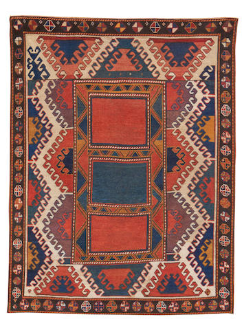 A Bordjalou Kazak rug, Central Caucasus, circa 1890, 6 ft 10 in x 5 ft 3 in (208 x 160 cm) good condition