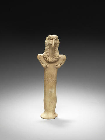A Syrian terracotta idol