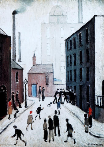 Laurence Stephen Lowry R.A. (British, 1887-1976) 'Industrial Scene'