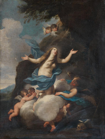 Mary Magdalene with angels Apotheosis of Saint Mary Magdalen
