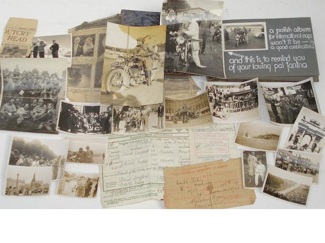 The remnants of Edith Foley's photograph album,