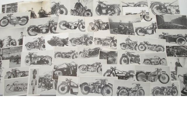 A quantity of photocards of pre-War Douglas motorcycles,