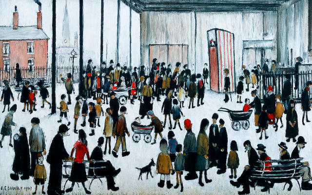 Laurence Stephen Lowry R.A. (British, 1887-1976) 'Punch & Judy'