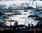 Laurence Stephen Lowry R.A. (British, 1887-1976) 'The Lake'