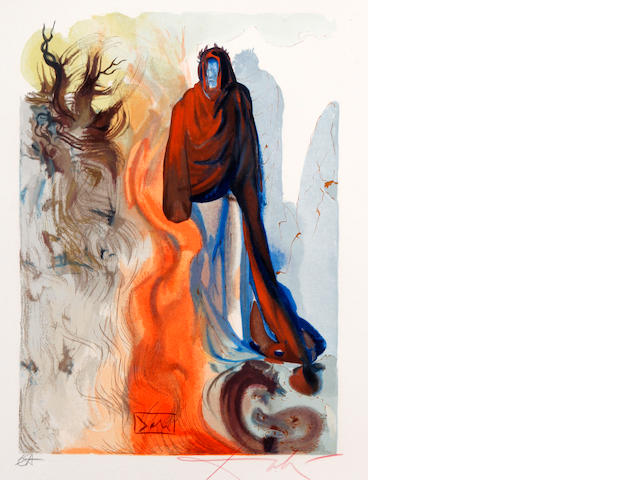 Salvador Dalí (Spanish, 1904-1989) Three prints from the series 'The Divine Comedy'