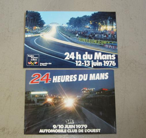 Two 24 Heure du Mans advertising posters, 1976 and 1979,