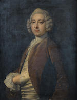 Circle of Thomas Hudson (Devon 1701-1779 Twickenham) Portrait of a gentleman, traditionally identified as Mr John Ewen,  (2)