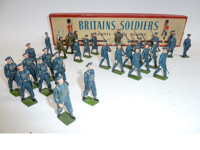 Britains Royal Air Force, set 2073 marching at the slope 30