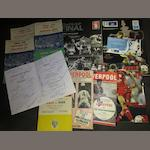 A collection of football programmes including F.A. Cup finals