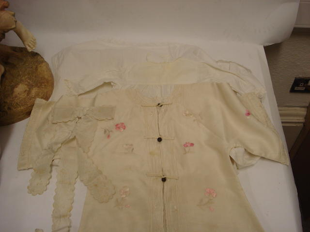 A collection of child's clothes belonging to Princess Anne