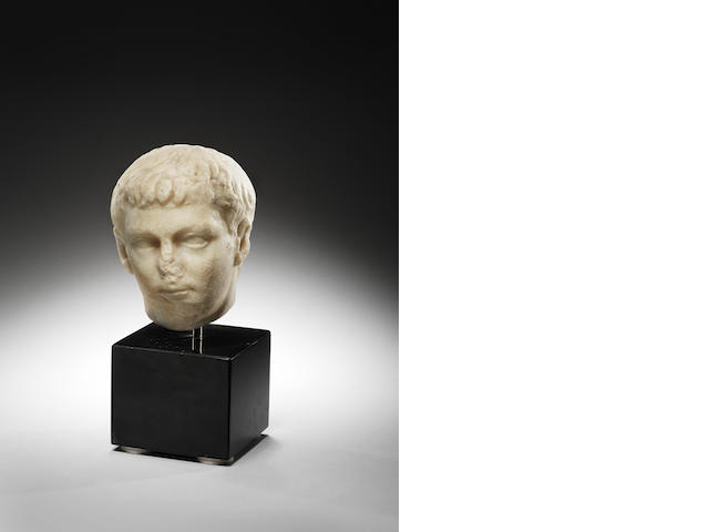 A Roman marble portrait head of an Imperial prince