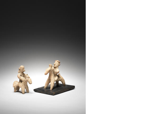 Two Cypriot terracotta horse and riders 2