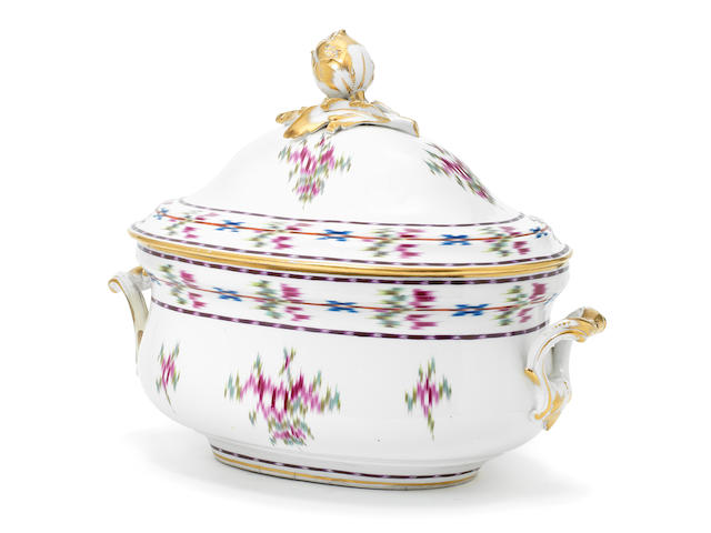 A Vienna tureen and cover, circa 1785